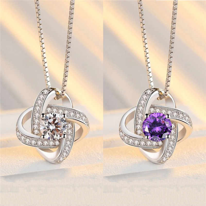 Hollow Purple White Crystal Flower Pendant Without Chain Charm Dangle DIY Female Jewelry Gift