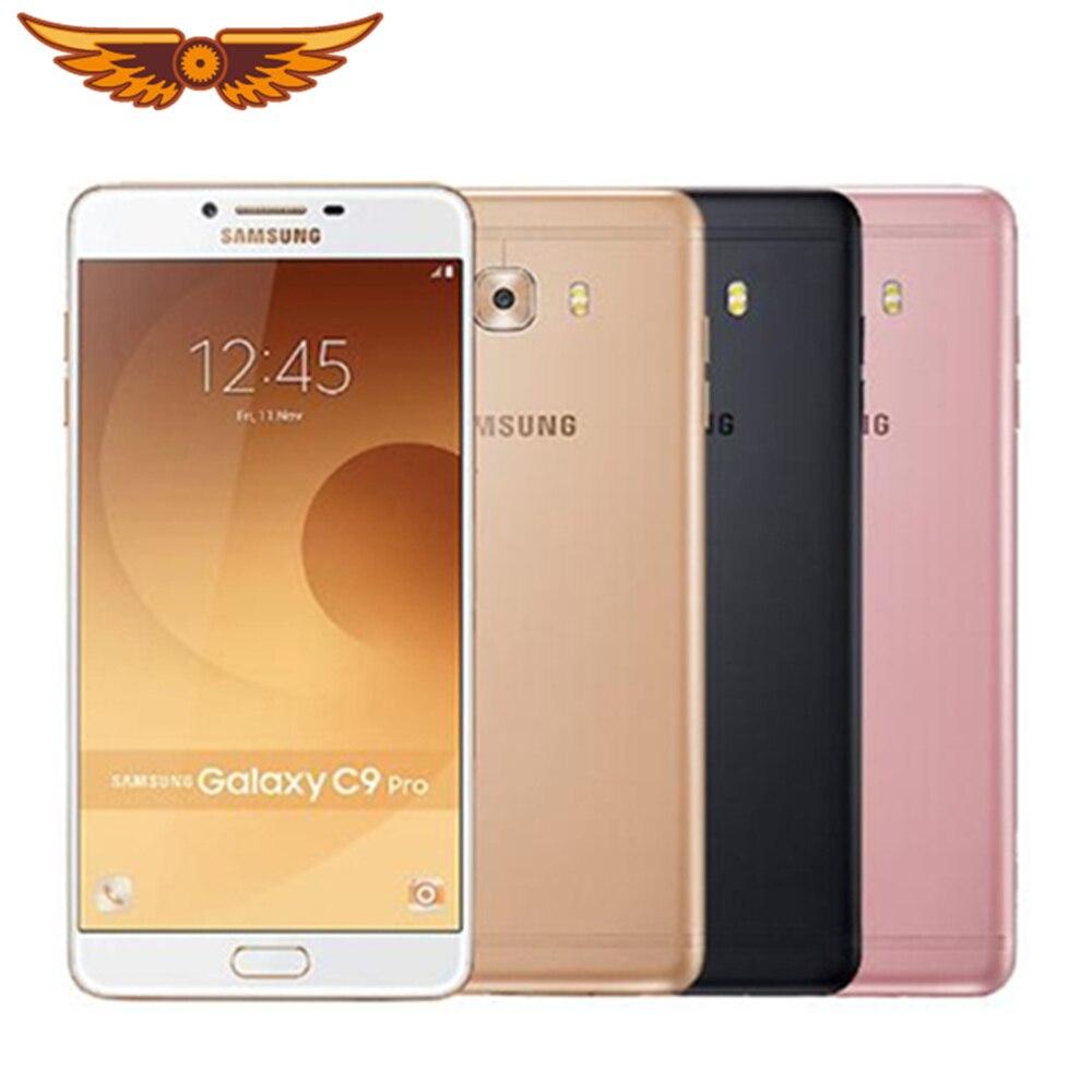 Originele Samsung Galaxy C9 Pro Unlocked 6.0 Inch 6Gb Ram 64Gb Ram Lte 4G 16.0MP Camera Octa core 4000Mah Android 6.0 Smartphone