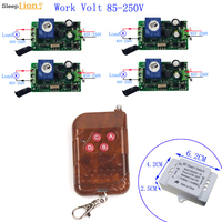 AC 110V 220V Lamp Light LED Fan Switch 433Mhz Wireless Remote Control Switch Module Learning Code Control Method