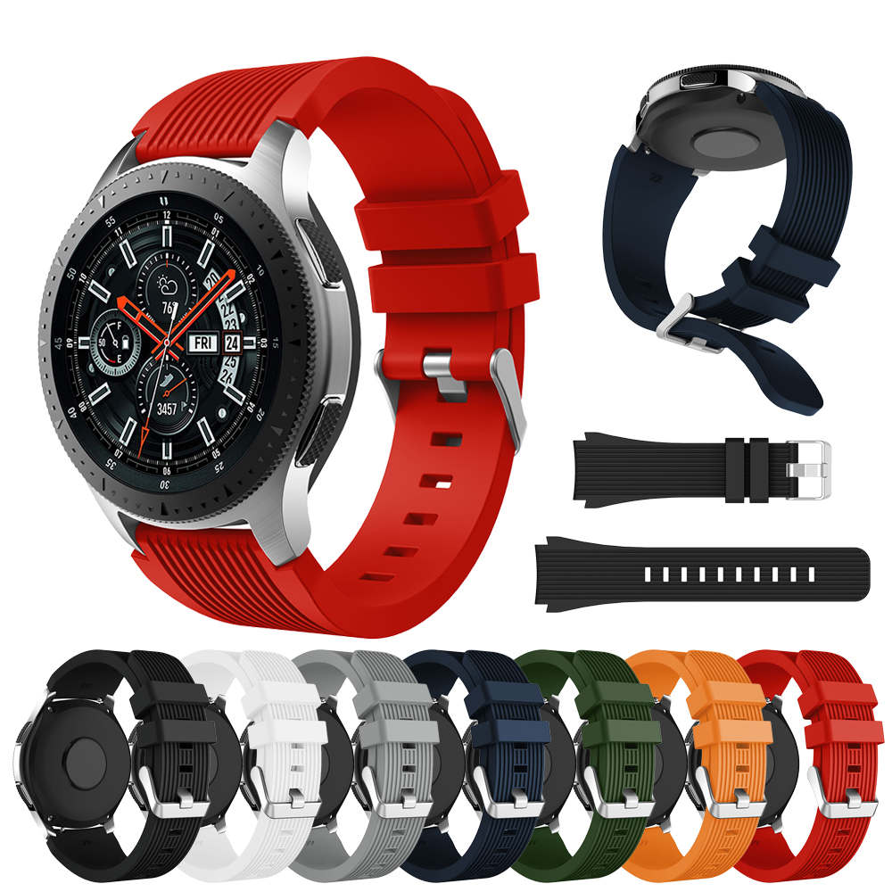 Silicone Watch Band Strap For Samsung Galaxy Watch 46mm Sport Replacement Bracelet Belt Band 22mm For Gear S3 Frontier 2020