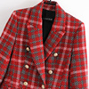 Fashion Double Breasted Plaid Blazers and Jackets Work Office Lady Autumn Women Suit Slim Business Female Blazer Coat Talever 3