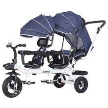 4 в 1 twin Детские коляски детский трехколесный велосипед с