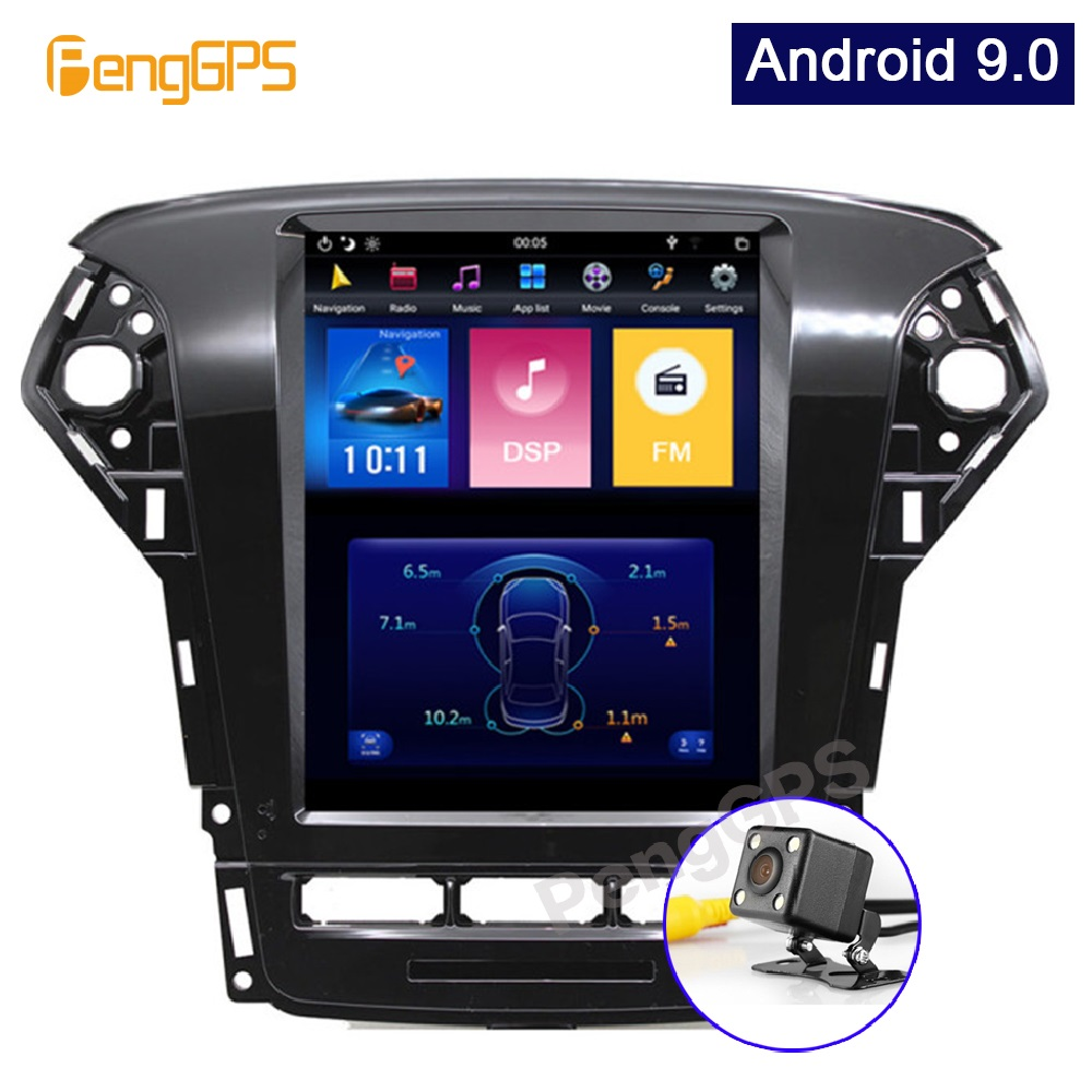 Car Stereo for Ford Mondeo/Fusion MK4 2011-2013 Android 9.0 GPS Navigation DVD Receiver with Wireless CarPlay Built-in DSP 10.4 image