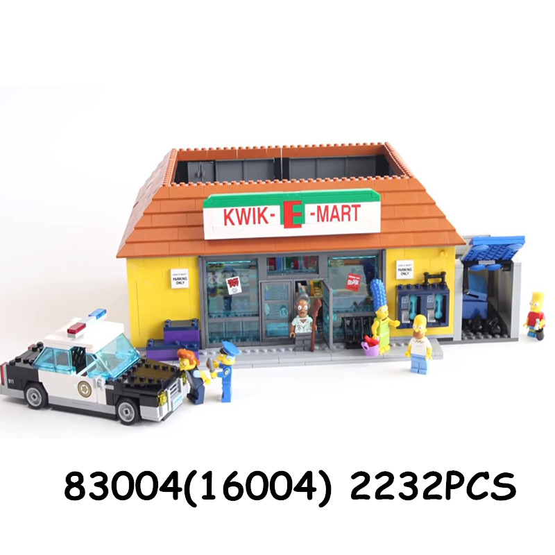 16004 the Kwik E Mart Building Blocks Movie Series Toys Bricks Compatible 71016 71006 16005 the Carton House-in Blocks from Toys & Hobbies    3