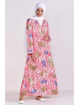 AYSHA Women Muslim Worship Lady Thobe Gown Prayer Patterned Islamic Abaya Praying Hijab Dress Quality Pratic