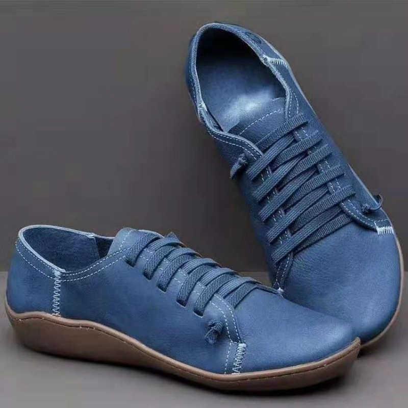 Plus Size 35-43 Nữ Cao Đến Mắt Cá Chân Giày Cho Đế Phẳng Giày Người Phụ Nữ Thời Trang Thun Nông Nữ 2020