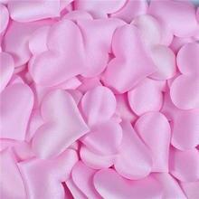 100 шт./пакет 3,5*3,5 см в форме сердца Лепестки Свадьба День Святого Валентина метание украшение стола