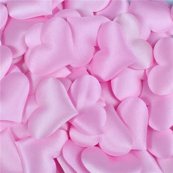 100pcs/bag 3.5*3.5cm Heart Shape Petals Wedding Valentines Day Throwing Table Decoration