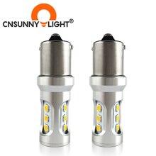 Автомобильный задний фонарь CNSUNNY, 1156 светодиодный светильник BA15S/P21W BAU15S/PY21W S25 3030 9SMD, задний стоп-сигнал, ДХО, задние парковочные лампы