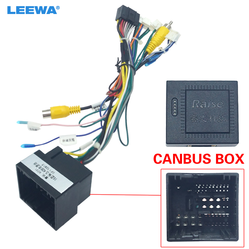LEEWA 16pin Car Android Stereo Wiring Harness For Peugeot  308(2016)/4008(2017)/508L(2019)/Citroen C3 XR(2019)/C5  AIRCROSS(2017)|Cables, Adapters & Sockets| - AliExpressAliExpress