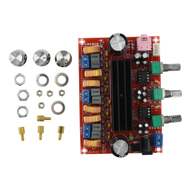 Fasdga <font><b>Amplifier</b></font> <font><b>Board</b></font> <font><b>TPA3116D2</b></font> <font><b>50Wx2</b></font>+<font><b>100W</b></font> <font><b>2.1</b></font> Channel Digital Subwoofer Power 12~24V image