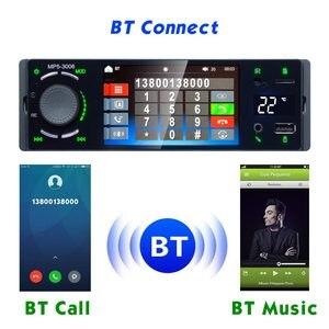 """Image 4 - Lustro Link 1 Din Autoradio samochodowy Radio 4.1 """"ekran dotykowy Auto Audio Bluetooth samochodowe Stereo MP5 odtwarzacz multimedialny kamera cofania"""