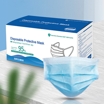 wholesale Medical Mask Anti Virus Surgical Face Mask with Mask Mascherine Antivirus Disposable Masks Filter 50 piece/lot