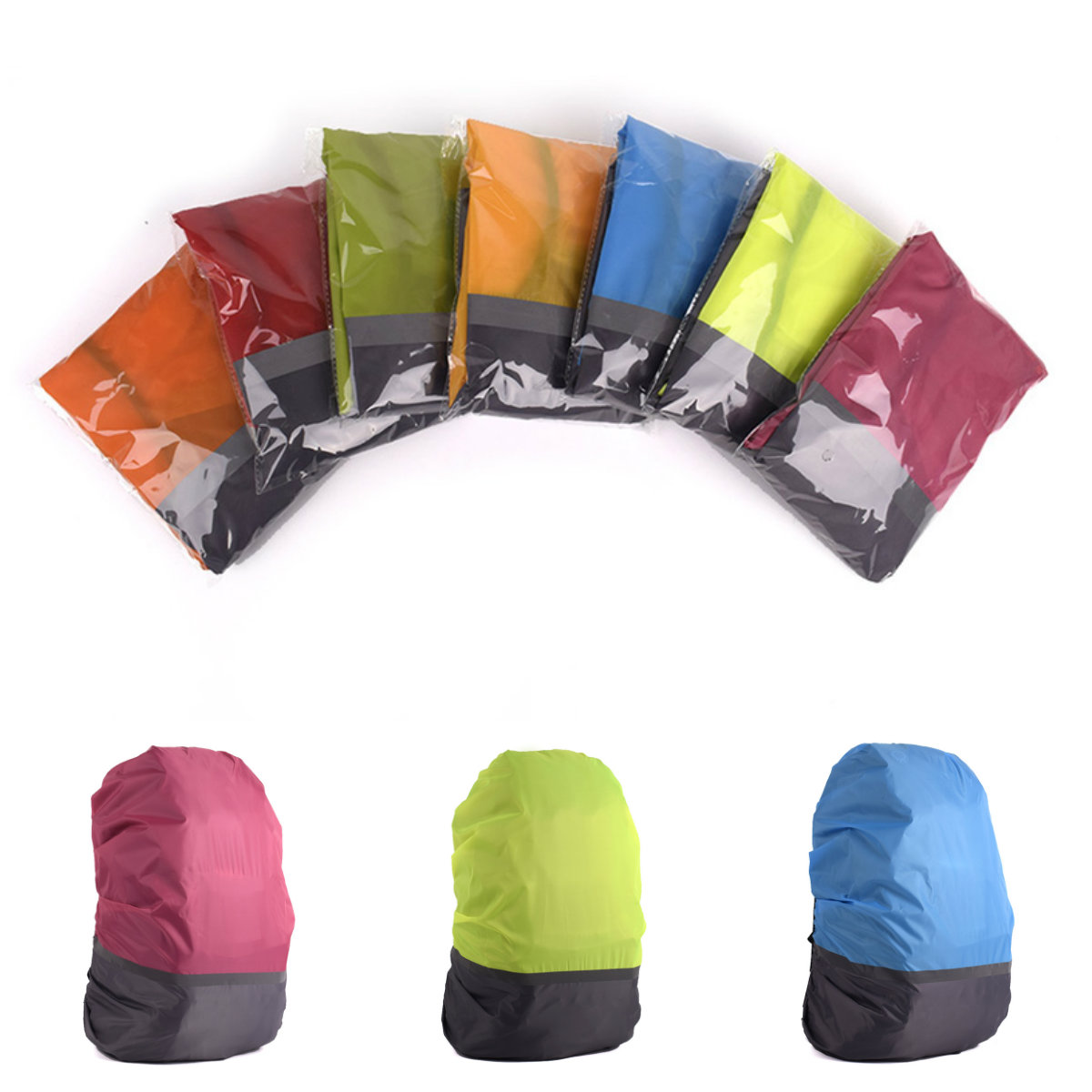 1PCS Outdoor Camping 30-40L Reflective Waterproof Backpack Rain Cover Bag Cover Travel Rainproof Dustproof Covers For Backpacks
