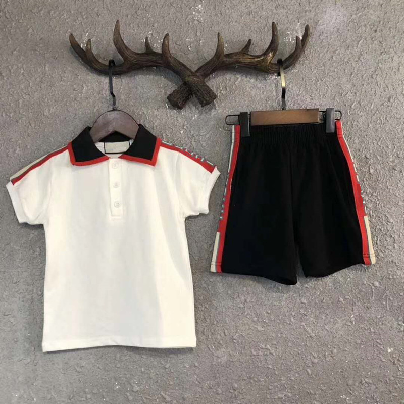 2 Pcs Set Boy's Fashion  Set Kids Summer Fashion Brand Set