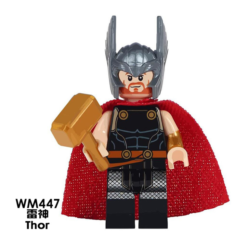 The Avengers Thor Rocket Raccoon Captain America Captain Marvel Stan Lee  Building Blocks Toys