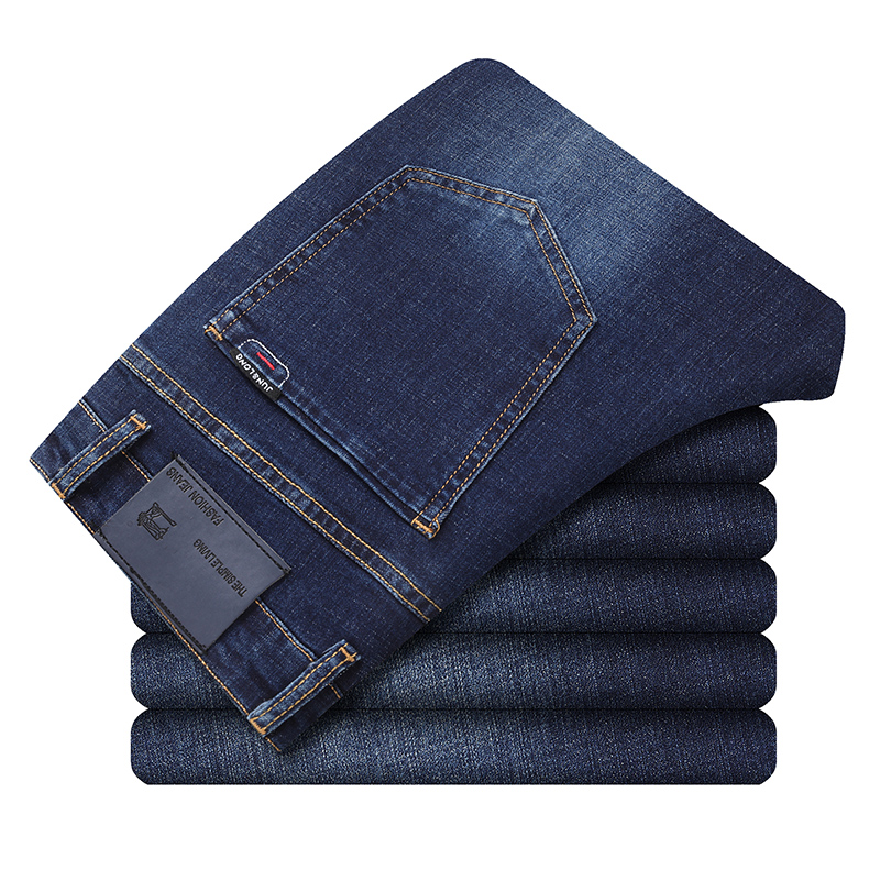 New Jeans Men Business Casual Slim Jeans Classic Trousers Fashion Denim Pants Male Straight Blue Jeans Homme Men Urban Clothes