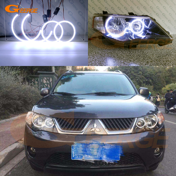 Excellent Ultra bright COB led angel eyes kit halo rings For Mitsubishi Outlander II 2006 2007 2008 2009 HALOGEN HEADLIGHT