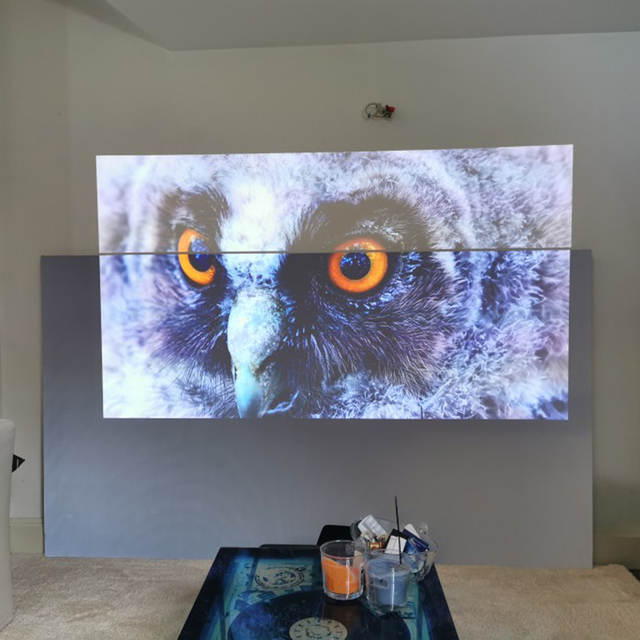 Yovanxer Projector Screen 72 84 100 120 130 133 inch Reflective Fabric for XGIMI Xiaomi JMGO mini Projectors Enhance Brightness 1