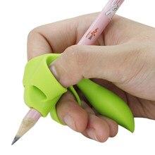 3/ 5 dedo silicone lápis caneta titular crianças escrita ferramenta de aprendizagem papelaria ajuda aperto dispositivo correção postura 3 peças/set