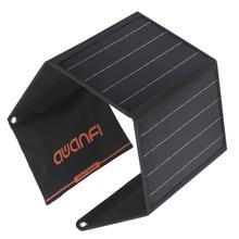 AWANFI солнечная панель 28 Вт 2 порта USB Портативное Солнечное Зарядное устройство складное для iPhone 12/11/Xs Max/XR/X/8 iPad Pro/Air/Mini Galaxy S10/S9