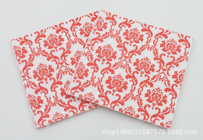 [] New Products Color Printed Napkin Tea