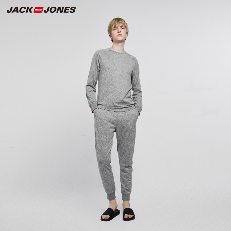 JackJones Men's Winter Cotton Homewear Warm Set Basic Pajama Set 2193HG501