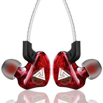 QKZ CK5-auriculares, intrauditivos estéreo deportivos con micrófono incorporado de 3,5mm y cable para videojuegos