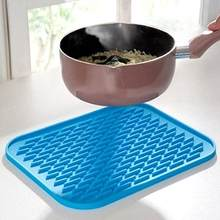 Cozinha silicone resistente ao calor esteira de mesa antiderrapante pote pan titular almofada almofada de cozimento forro placemat protetor de mesa