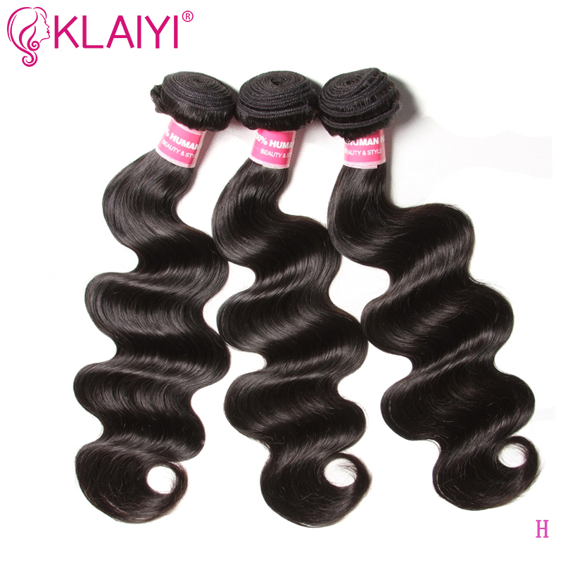 Klaiyi Brazilian Hair Weave Bundles Body Wave Natural Color Human Hair Extension 8-30 Inch Remy Hair 3 Pieces/lot Can Be Dyed