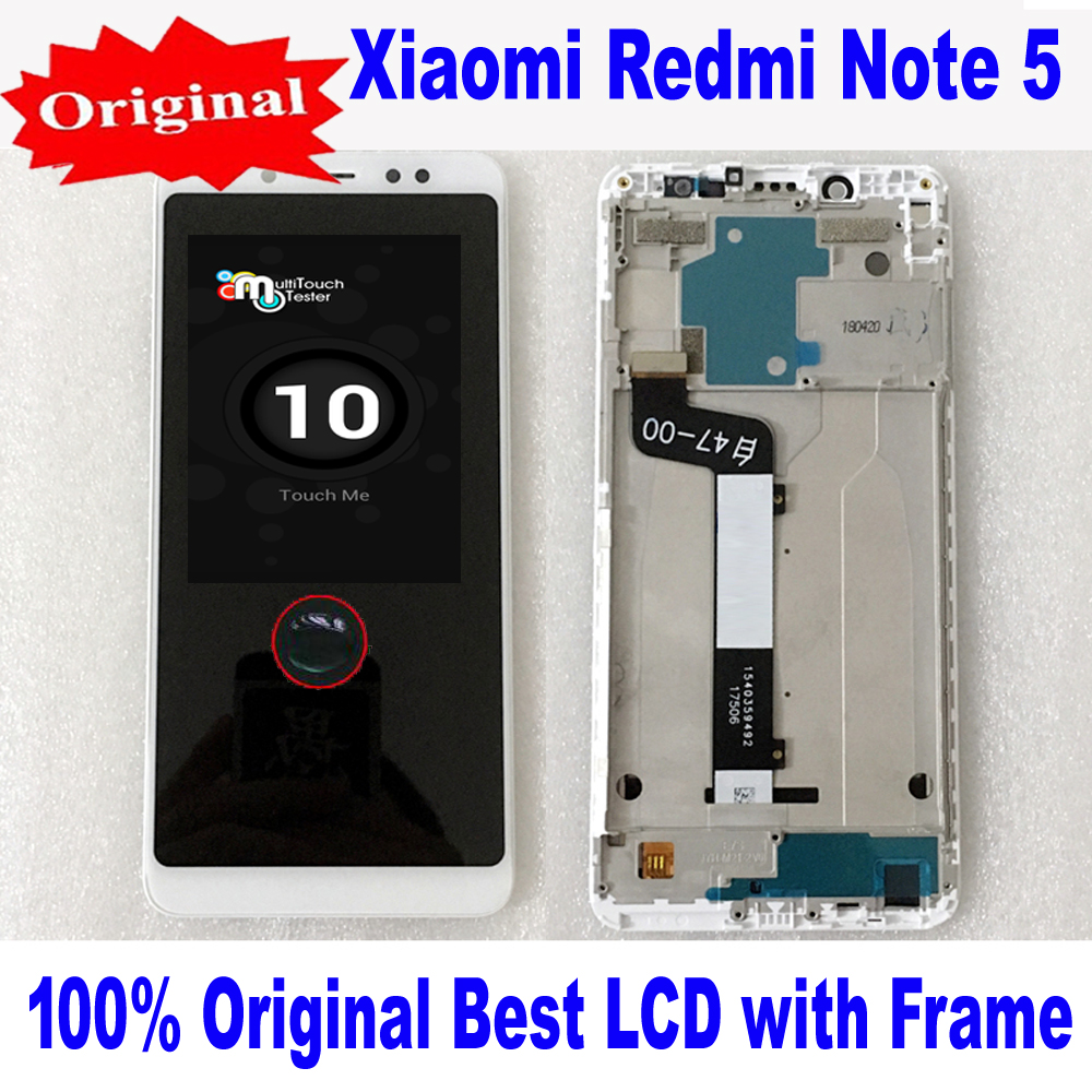 Original Best Glass Sensor <font><b>LCD</b></font> <font><b>Display</b></font> <font><b>Touch</b></font> <font><b>Screen</b></font> Digitizer Assembly + Frame For <font><b>Xiaomi</b></font> <font><b>Redmi</b></font> <font><b>Note</b></font> <font><b>5</b></font> <font><b>Pro</b></font> MEG7S MEC7S Pantalla image