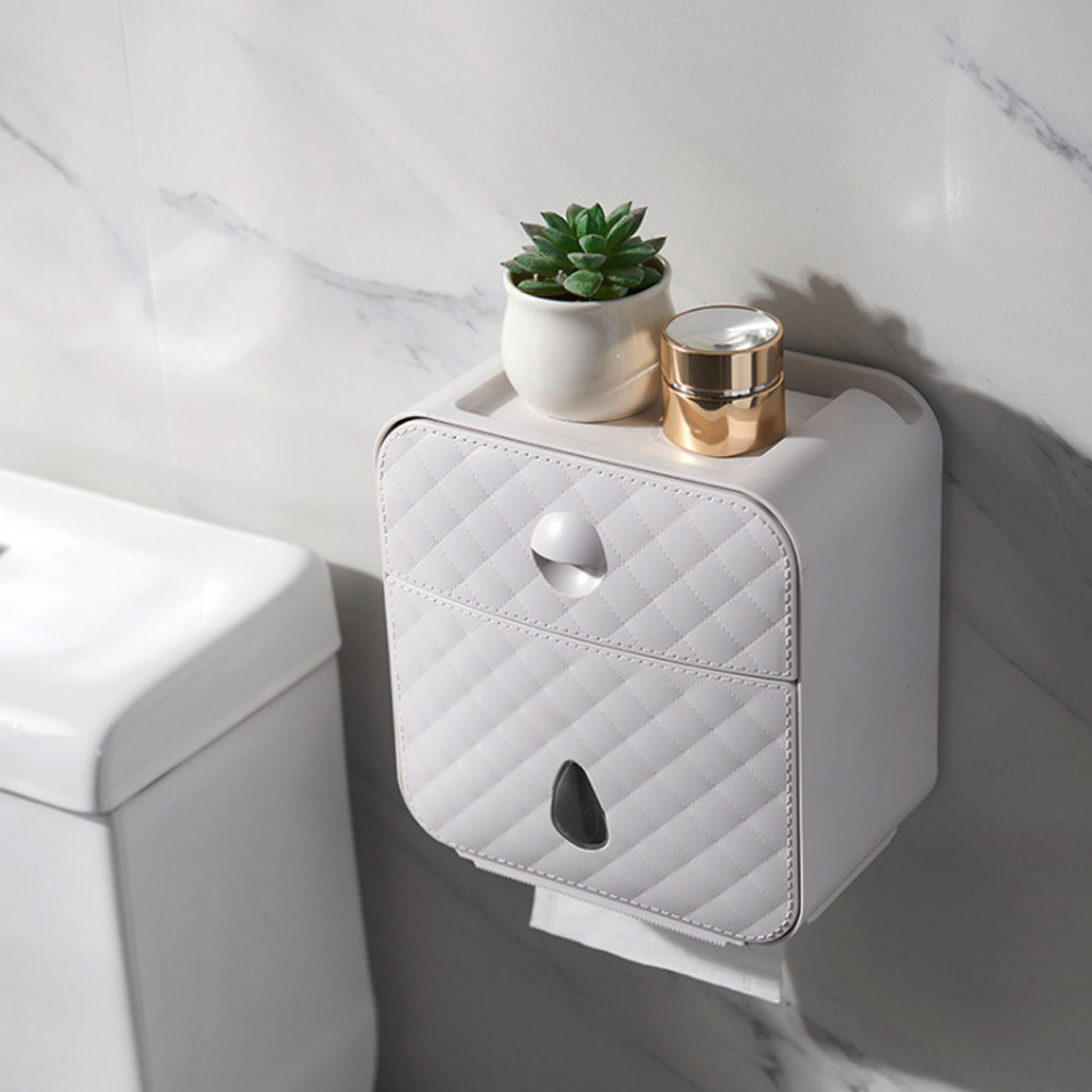 Waterproof Toilet Paper Holder Plastic Tissue Box Drawers Wall Mounted Wc Roll Paper Holder CaseTube Storage Box Bathroom Tools