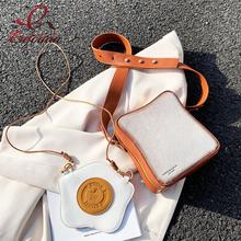 Zabawa Toast Design Crossbody torba Pu skóra moda kobiety torebki i torebki dziewczyna torba na ramię kobieta kopertówka 2021 nowość tanie tanio ENJOININ FLAP Torby na ramię Na ramię i torby crossbody CN (pochodzenie) zipper SOFT Otwarta kieszeń 2020-4-F POLIESTER