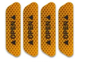 4 шт./компл. двери автомобиля стикеры сделай сам автомобиль открыть светоотрающей полосой Предупреждение отражающая открытая уведомления велосипедные аксессуары для экстерьера - Название цвета: Orange
