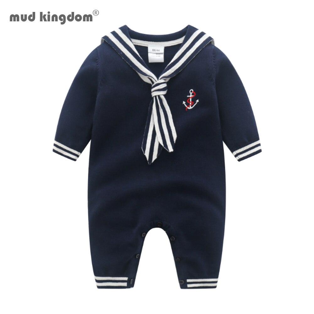 Mudkingdom/комплекты из бутика для маленьких мальчиков свитер детский комбинезон на весну-осень с длинным рукавом в морском стиле стиль детей де...