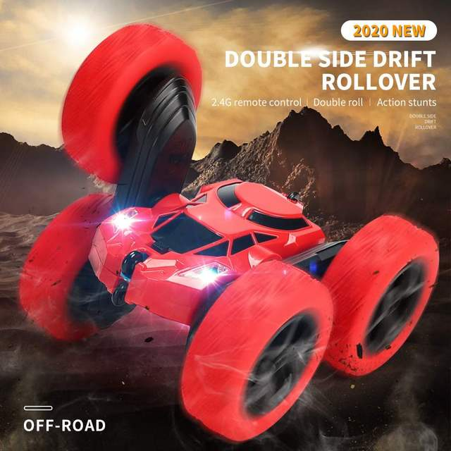 Pickwoo C7 RC Car 2.4Ghz 4CH 1:16 Stunt Drift Car Rock Crawler Remote Control Car 360 Degree Flip RC Vehicle Toys with LED Light 6