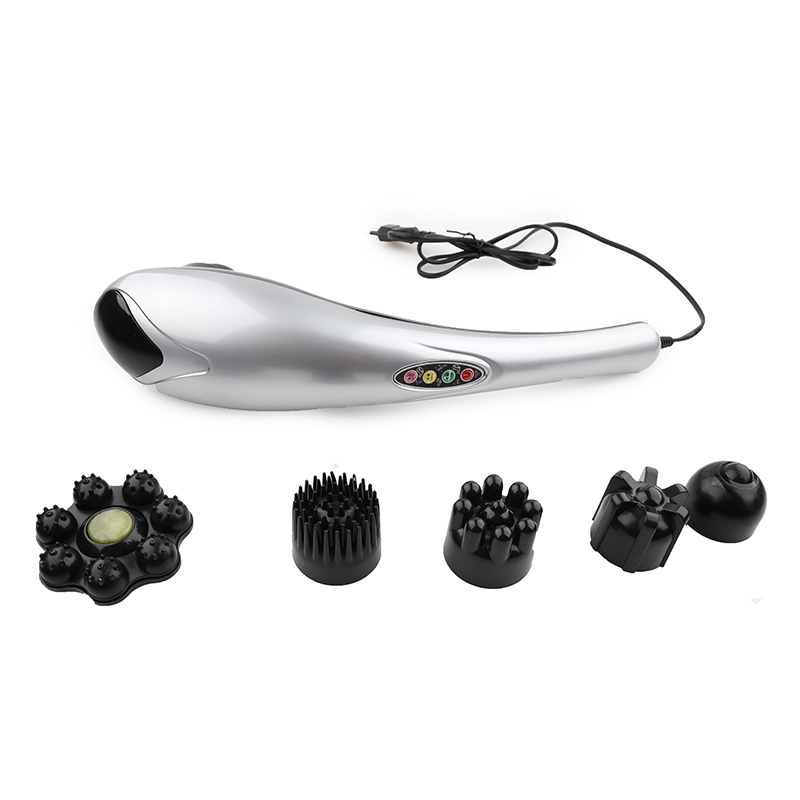 Image 3 - Electric Dolphin Massager luxury Back Massage Hammer Vibration Infrared Stick Roller Cervical Body Massager with 6 headLeg Massage Apparatus   -