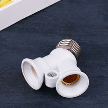 Y Shape LED Light Socket E27 to 2E14 Bulb Adapter Lamps Holder Converter White(China)