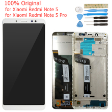 Original for Xiaomi Redmi Note 5/ Note 5 Pro LCD Display Frame Screen Touch Digitizer Assembly LCD Display 10 Touch Repair Parts
