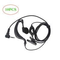 10Pcs Earpiece Headset for Bf T1 UHF400 470 20CH Portable Ham FM CB Radio Handheld Transceiver