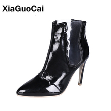 Woman Ankle Boots Spring Autumn Female Shoes Thin High Heels Pumps Short Pointed Toe Boots Fashion Sexy Ladies Footwear Black kiiyilala pointed toe sexy high heels ankle boots for women autumn spring fashion boots with rivets thin heels short boots shoes