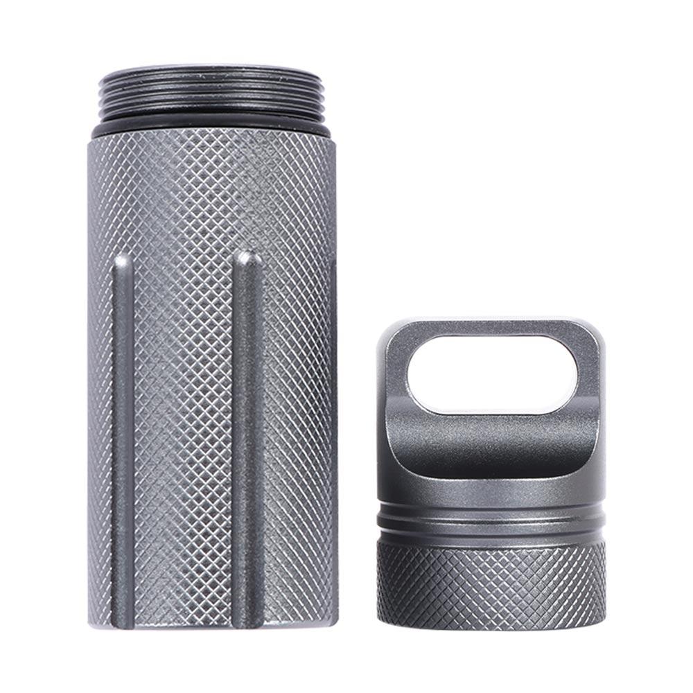 Waterproof Seal Case Bottle Pendant Survival EDC Box Container Pill Capsule