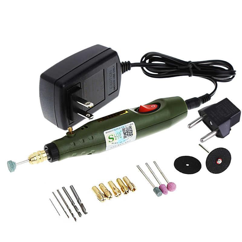 110 فولت أدوات كهربائية النقش القلم مطحنة كهربائية آلة تلميع صغيرة دليل ماكينة حفر أدوات كهربائية الولايات المتحدة التوصيل