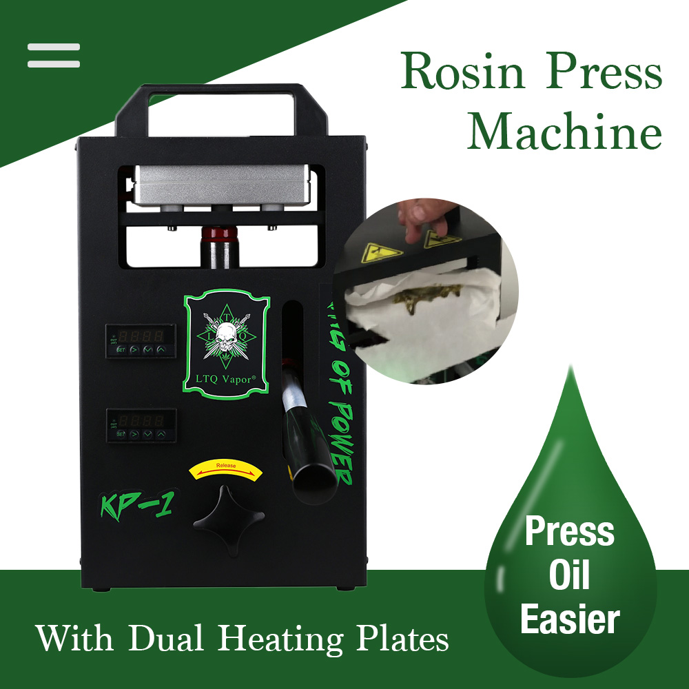 4ton Hydraulic Rosin Press Machine KP-1 Heat Press dual heated plates Portable Oil Wax Extracting Tool 4.5x4.7inch