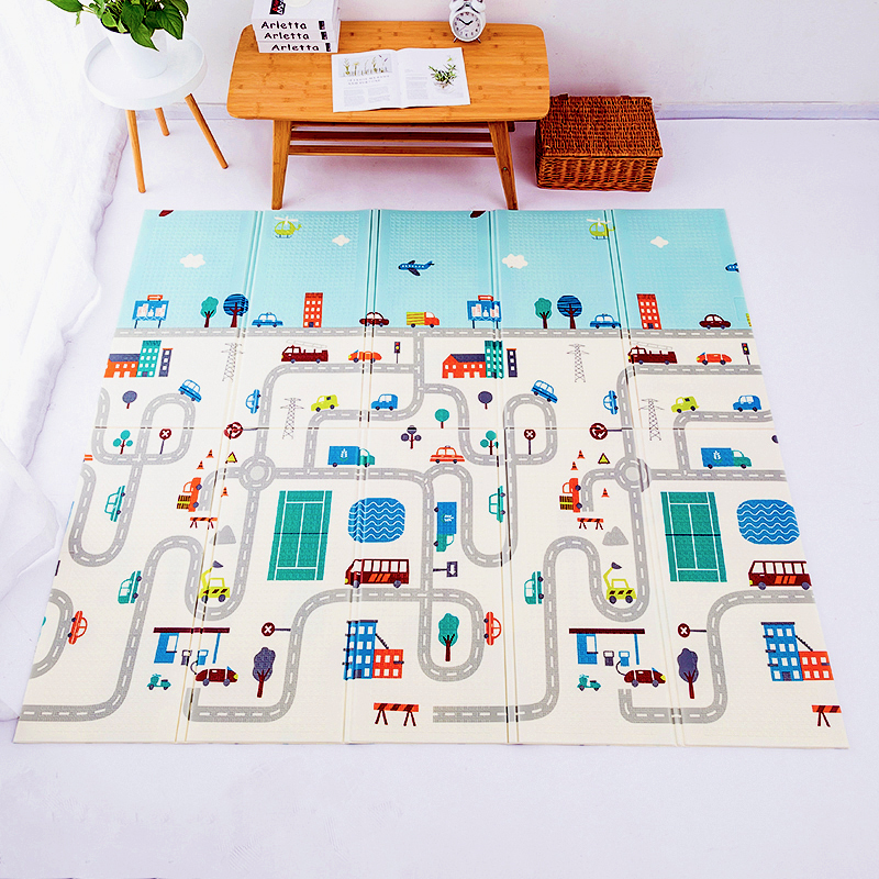 Складной детский игровой коврик 1 см, коврик для ползания XPE, игрушки-пазлы для детей, мягкий пол, декор для комнаты, коврик для активного отды...