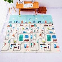 Dobrável tapete de jogo do bebê 1cm rastejando tapete xpe quebra-cabeça brinquedos para crianças piso macio decoração do quarto atividade almofada jogo gym crianças tapete