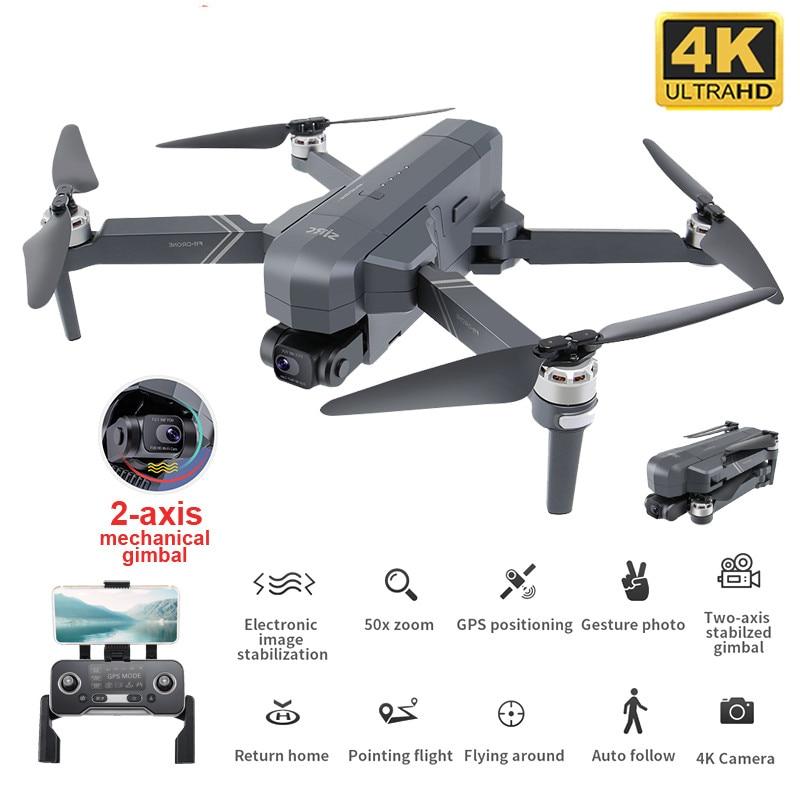 Sjrc f11 pro rc zangão com câmera 4k 2-axis cardan brushless 5g wifi fpv gps waypoint voo 1500m 26 minutos quadcopter tempo de vôo