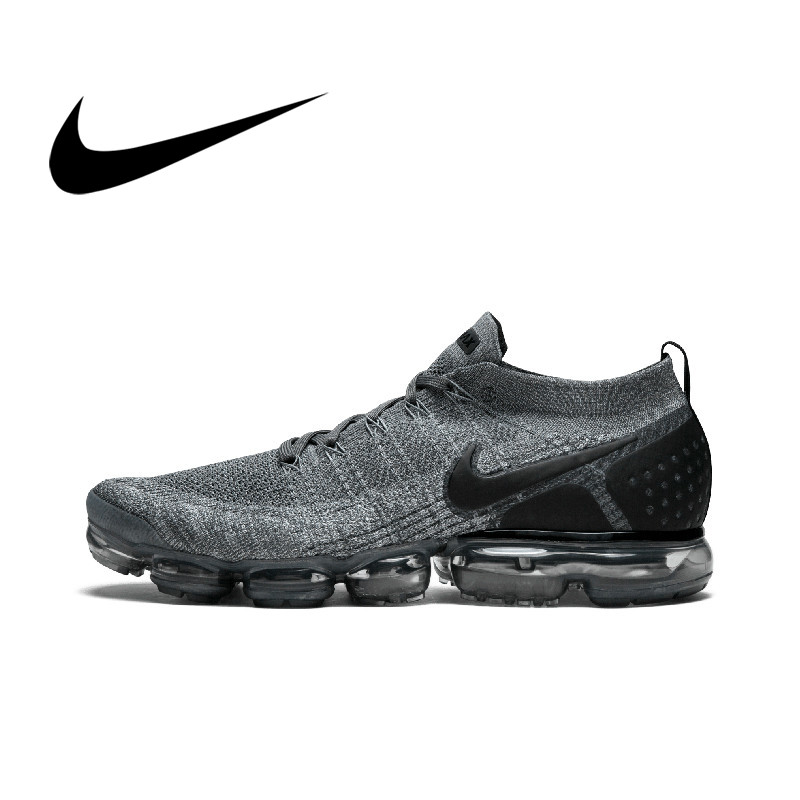 Original Authentic Nike Vapormax Flyknit 2.0 Men's Running Shoes Sport Outdoor Sneakers Athletic Designer Footwear 942842-002