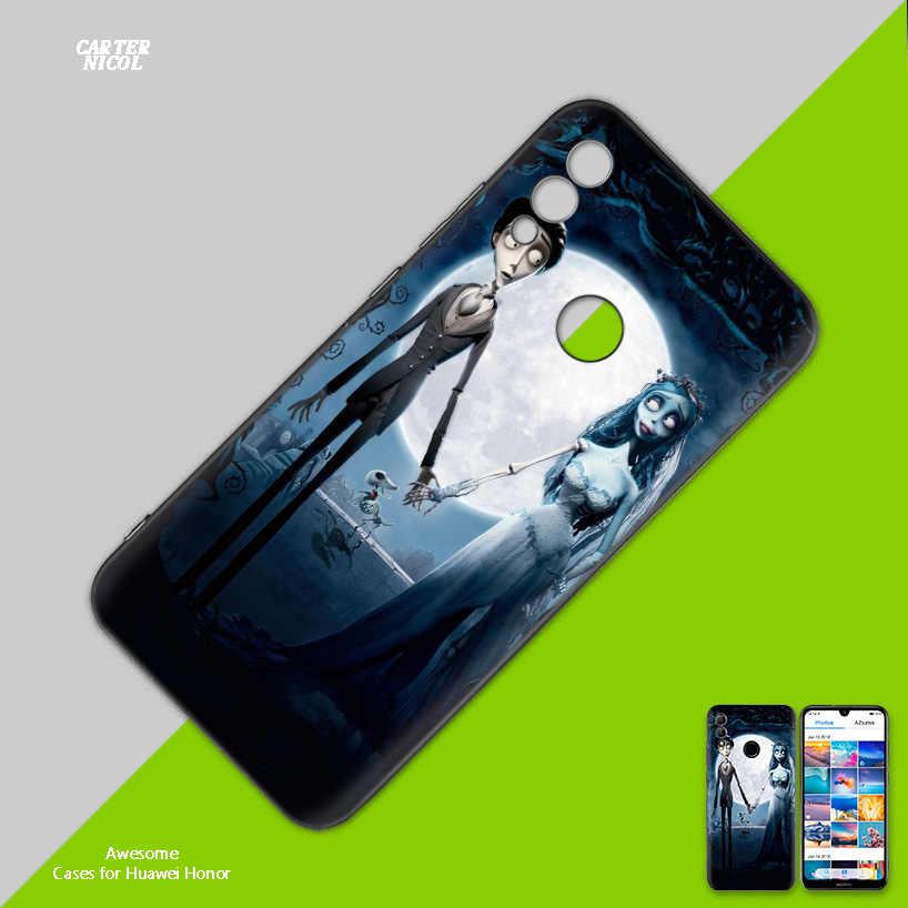 Силиконовый чехол для huawei Honor 8X 8C 8A 8S 9X10 20 20i V20 Y5 Y6 Y7 Y9 Play Lite Pro Prime 2018 2019 Tim Burtons Corpse B