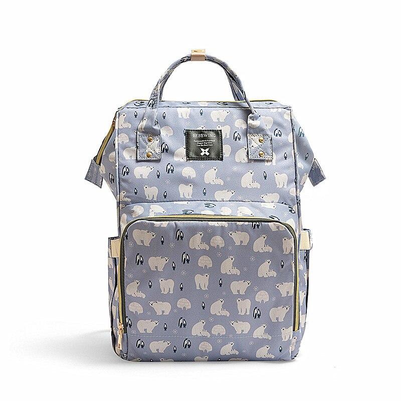 New Mummy Bag Multifunctional Mother Baby Bag Fashion Mom Bag Baby Bottle Backpack Diaper Backpack